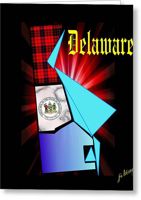 Usa Digital Greeting Cards - Delaware the First Greeting Card by Jacquie King