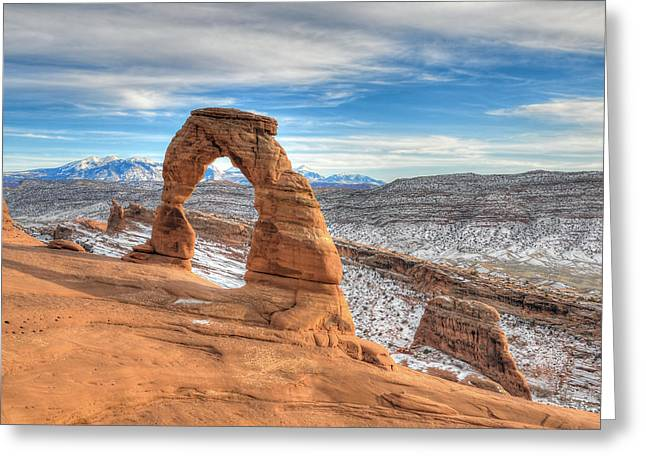 Beauty Mark Photographs Greeting Cards - Delicate Arch Greeting Card by Mark Whitt