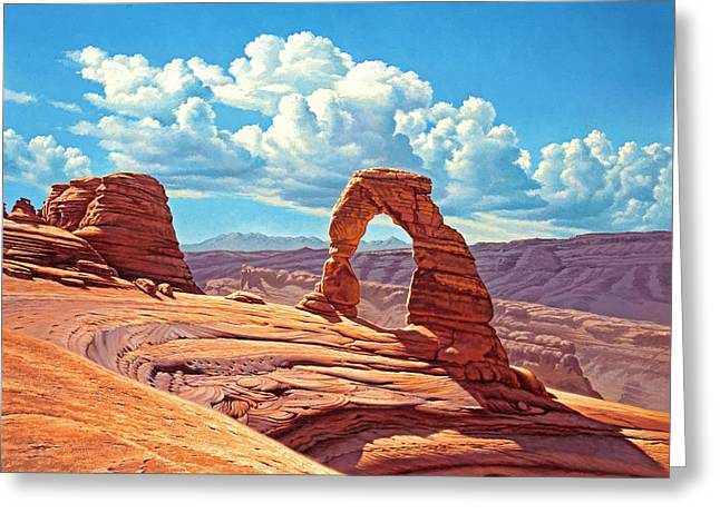 Formations Greeting Cards - Delicate Arch Greeting Card by Paul Krapf