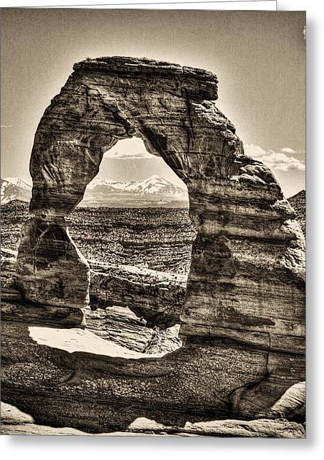Satisfaction Greeting Cards - Delicate Arch Greeting Card by Roger Passman