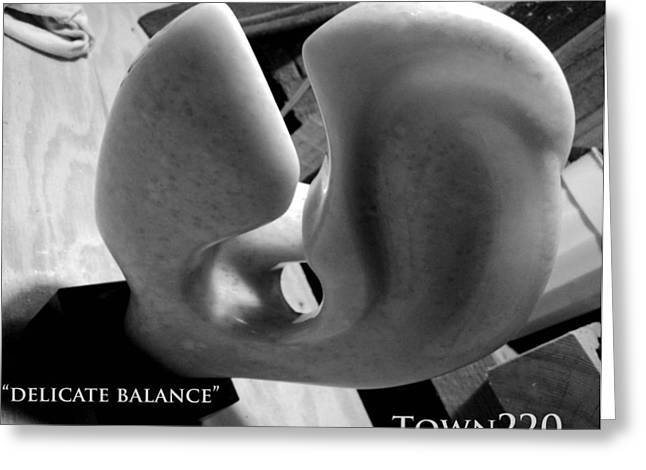 Abstract Forms Sculptures Greeting Cards - Delicate Balance Greeting Card by Matt Holcomb
