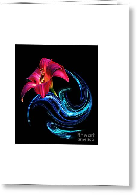 Abstract Digital Photographs Greeting Cards - Delicate Greeting Card by Martina Parsley