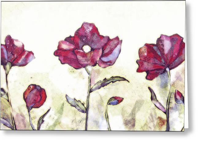 Delicate Poppy I Greeting Card by Shadia Zayed