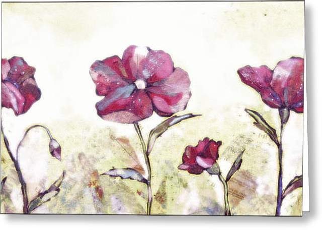 Delicate Poppy II Greeting Card by Shadia Zayed