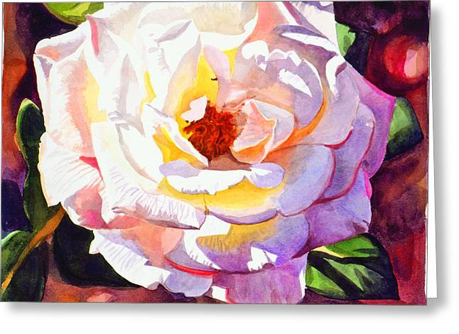 Delicate Princess Rose Greeting Card by David Lloyd Glover