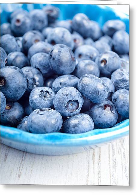 Huckleberry Greeting Cards - Delicious blueberries Greeting Card by Andreas Berheide