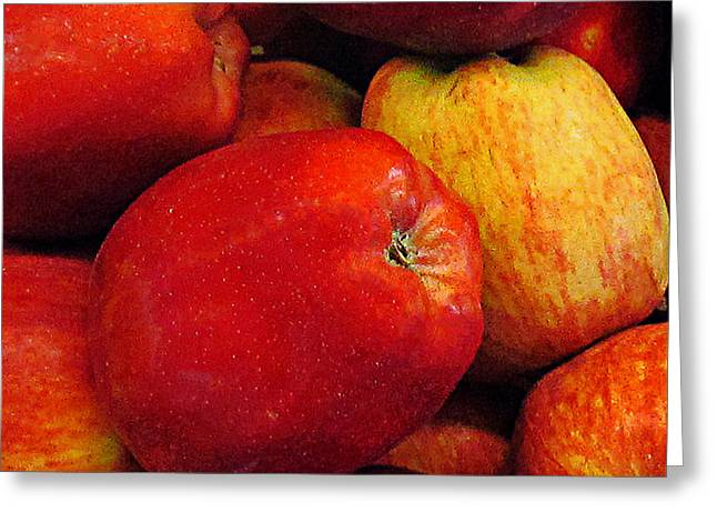 Farm Stand Greeting Cards - Deliciously Red Greeting Card by Steve C Heckman