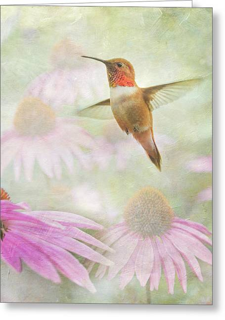 Delight In A Flower Garden Greeting Card by Angie Vogel