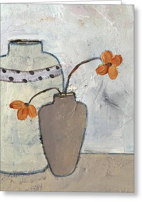 Interior Still Life Mixed Media Greeting Cards - Delightful Greeting Card by Judy Jacobs