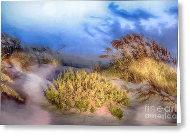 Sand Dunes Paintings Greeting Cards - Delightfully Quiet Greeting Card by Dan Carmichael