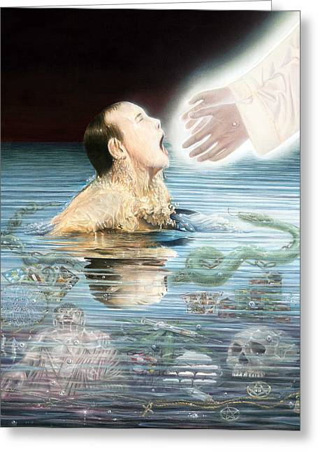 Born Again Greeting Cards - Deliverance  Greeting Card by Curt Hammell