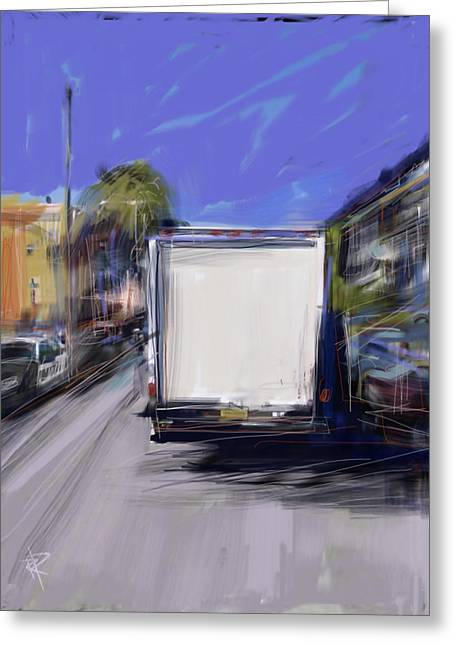 Delivery Greeting Card by Russell Pierce