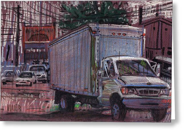 Plein Air Pastels Greeting Cards - Delivery Truck 2 Greeting Card by Donald Maier