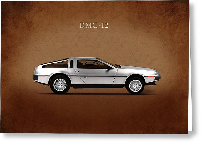 Dmc Greeting Cards - DeLorean DMC-12 Greeting Card by Mark Rogan