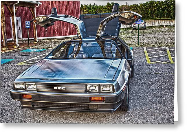 Delorean Greeting Card by Douglas Miller