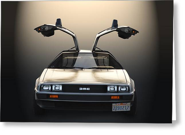 Delorean Motor Company Greeting Card by Bill Dutting
