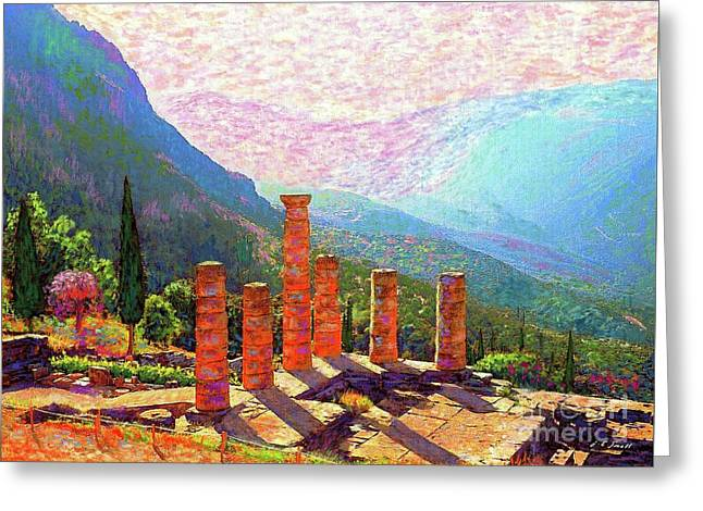Delphi Magic Greeting Card by Jane Small