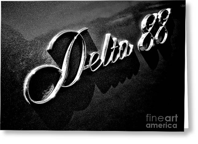 Car Insignia Greeting Cards - Delta 88 Badge Greeting Card by Olivier Le Queinec