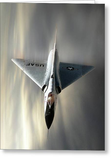 Delta Dart F-106 Greeting Card by Peter Chilelli