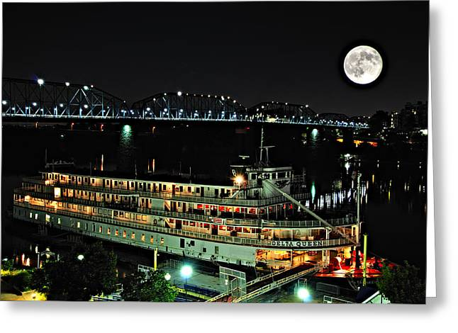Tn Greeting Cards - Delta Queen and the Supper Moon Greeting Card by Darwin  White