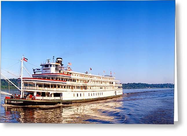 Water Vessels Greeting Cards - Delta Queen Steamboat On Mississippi Greeting Card by Panoramic Images
