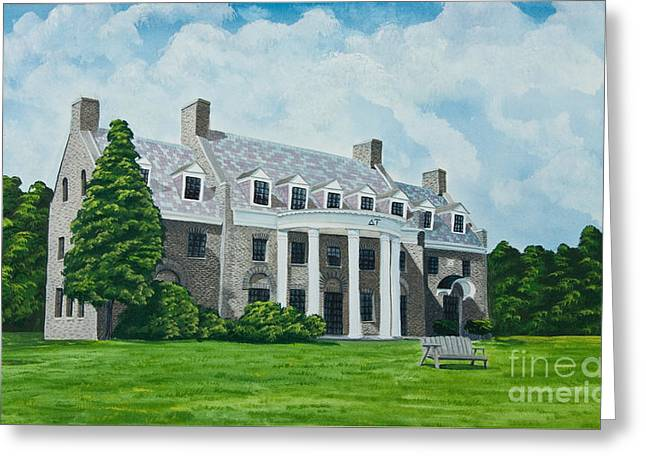 Delta Upsilon Greeting Card by Charlotte Blanchard