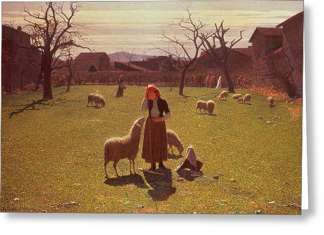 Deluded Hopes Greeting Card by Giuseppe Pellizza da Volpedo