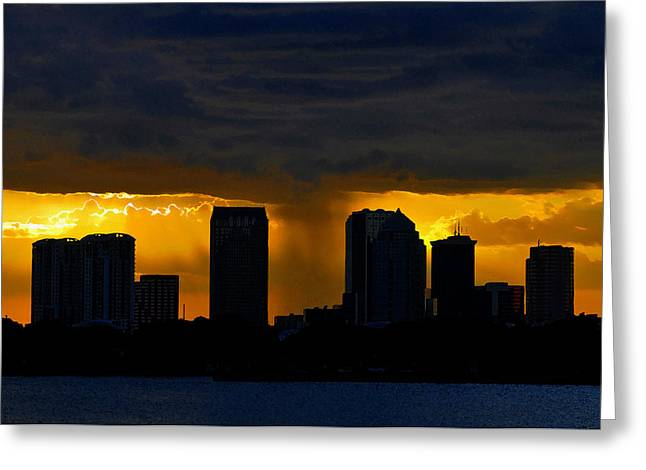 Thunderstorm Digital Greeting Cards - Deluge Greeting Card by David Lee Thompson