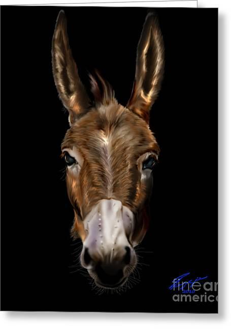 Dem-donkey Greeting Card by Reggie Duffie