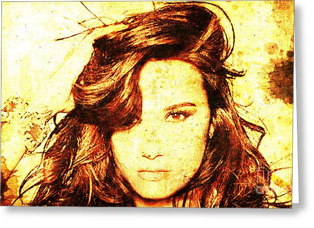 Demi Lovato Greeting Card by Pablo Franchi