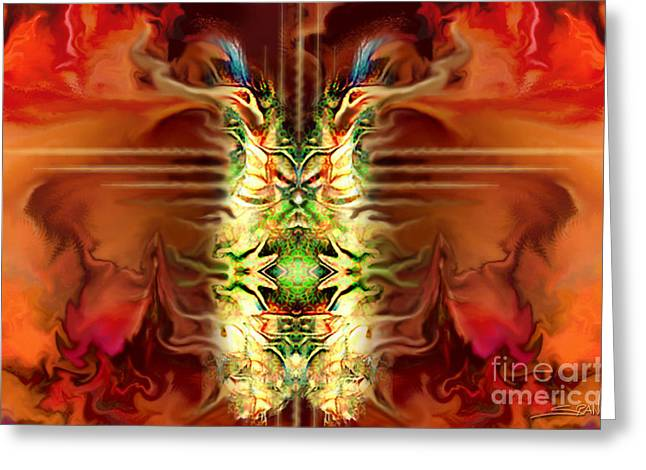 Spano Greeting Cards - Demon Column by Spano Greeting Card by Michael Spano