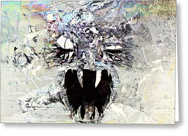 Demon Under The Bed Greeting Card by Robert Ball