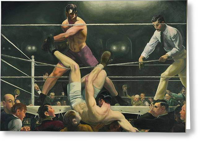 Dempsey And Firpo Boxing - George Bellows  Greeting Card by War Is Hell Store