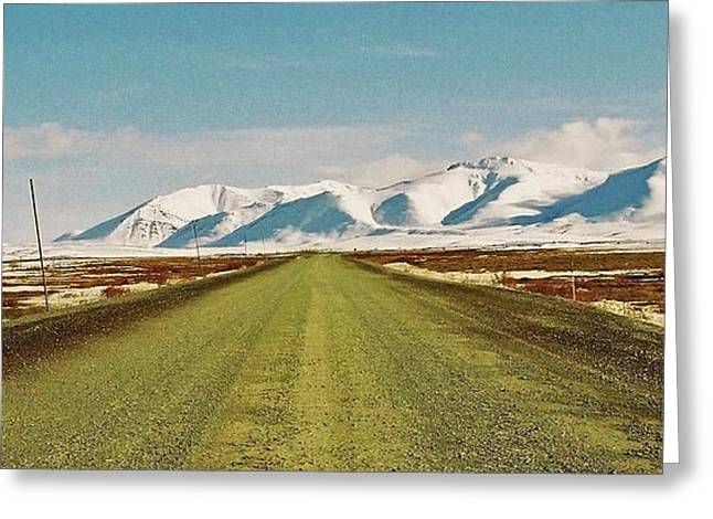 Whitehorse Greeting Cards - Dempster Highway - Yukon Greeting Card by Juergen Weiss