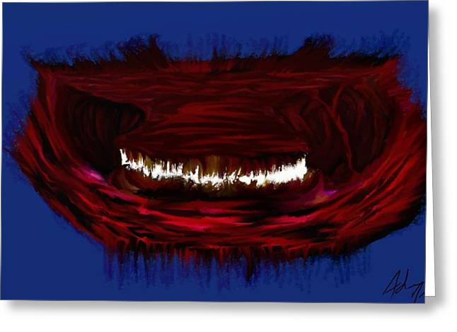 Bad Ass Digital Art Greeting Cards - Hell Mouth Greeting Card by Adam Norman