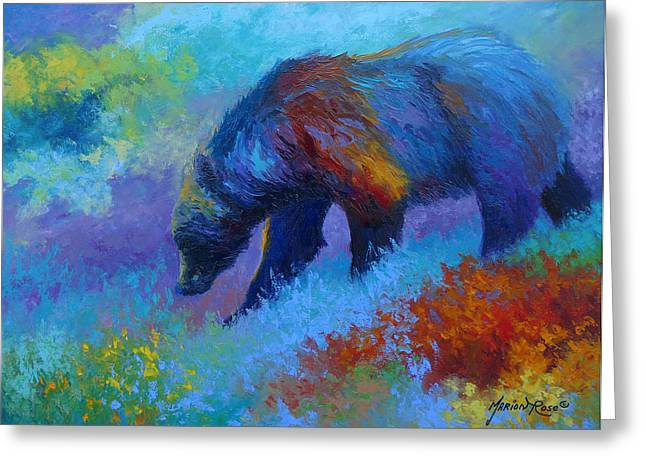 Denali Greeting Cards - Denali Grizzly Bear Greeting Card by Marion Rose