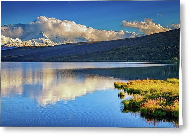 Denali Reflections Greeting Card by Rick Berk