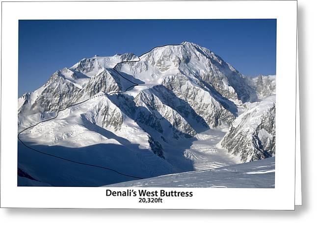 Denali West Buttress Greeting Card by Alasdair Turner
