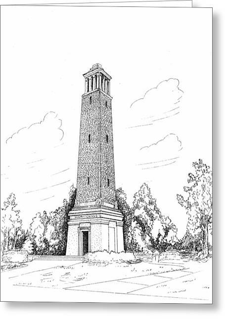 Alabama Drawings Greeting Cards - Denney Chimes Greeting Card by Barney Hedrick