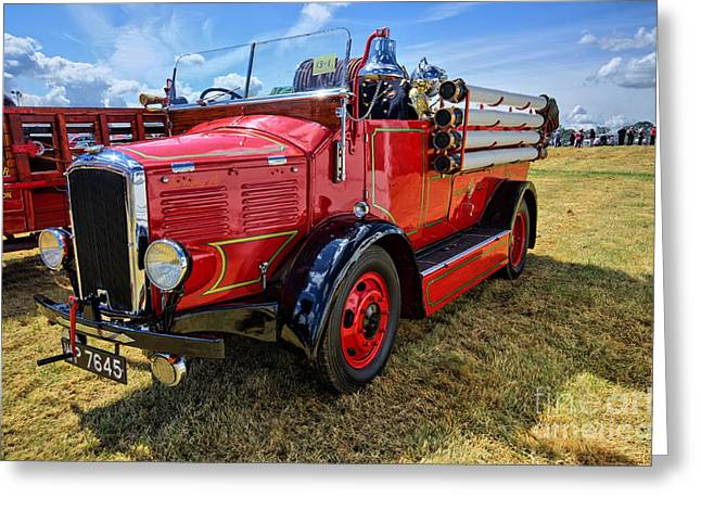 Dennis Fire Engine Greeting Card by Stephen Smith