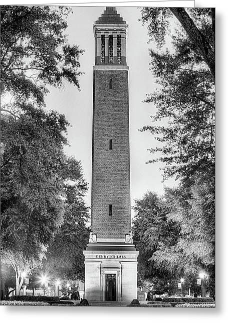 Denny Chimes Black And White Greeting Card by JC Findley