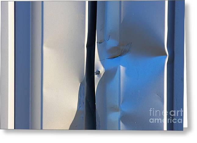 Dented Steel Sheet Greeting Card by Jan Brons
