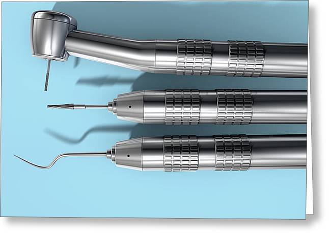 Dentists Tools Greeting Card by Allan Swart