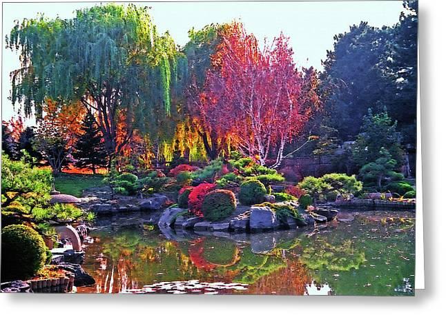Denver Botanical Gardens 3 Greeting Card by Steve Ohlsen