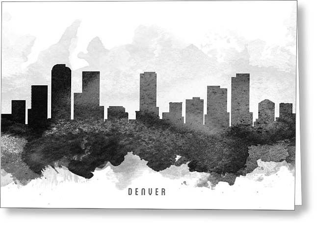 Denver Colorado Greeting Cards - Denver Cityscape 11 Greeting Card by Aged Pixel