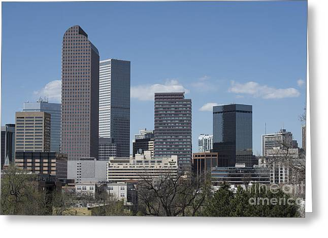 Urban Buildings Greeting Cards - Denver Colorado Greeting Card by Juli Scalzi
