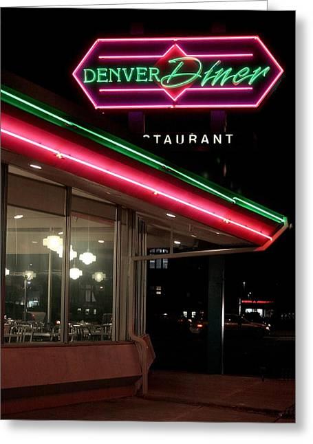 Denver Diner Greeting Card by Jeff Ball