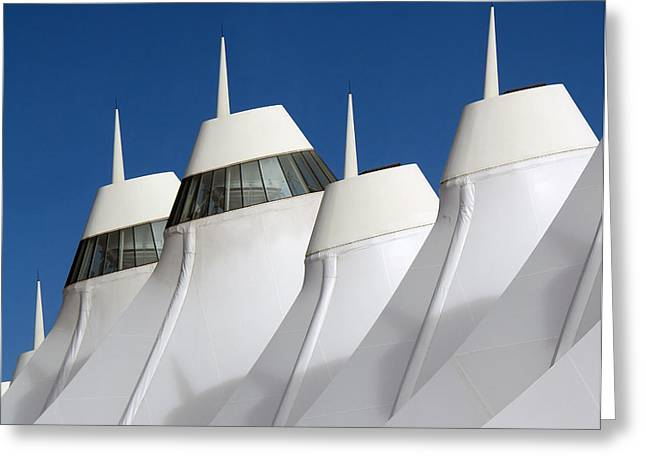 International Airports Greeting Cards - Denver International Airport DIA Colorado Greeting Card by Brendan Reals