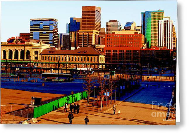 Denverscape II Greeting Card by Christine Zipps
