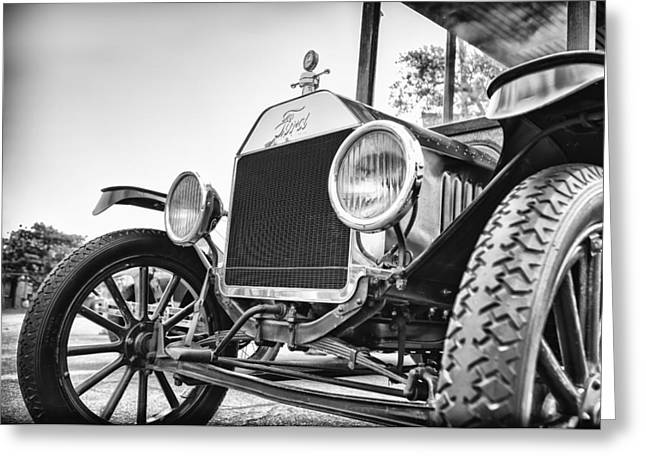 Ford Model T Car Greeting Cards - Depot Hack in Black Greeting Card by Caitlyn  Grasso